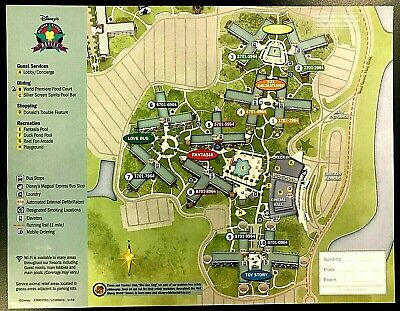 NEW 2020 Walt Disney World All Star Movies Resort + 7 Theme Park Guide Maps !!!!