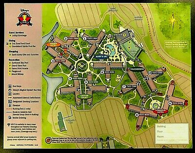 NEW 2020 Walt Disney World All Star Sports Resort + 5 Theme Park Guide Maps !!!!