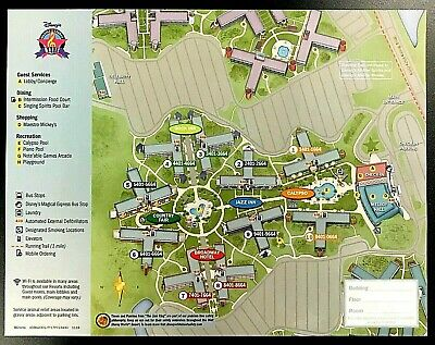 NEW 2020 Walt Disney World All Star Music Resort + 7 Theme Park Guide Maps !!!!!
