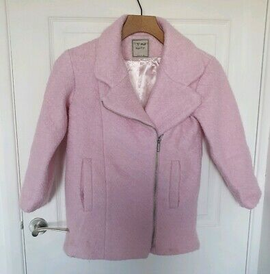 Girls Pink Furry Coat Size 7-8years From NEXT
