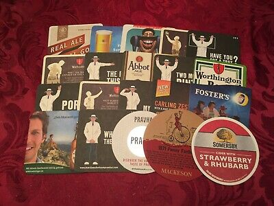 Collection Of 20 Different Beer Mats Tray 19 Lot No246 - Some Rare Beer Mats