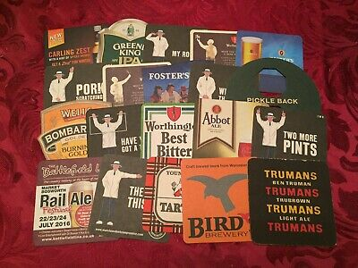 Collection Of 20 Different Beer Mats Tray 20 Lot No253 - Some Rare Beer Mats