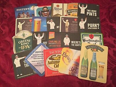Collection Of 20 Different Beer Mats Tray 20 Lot No252 - Some Rare Beer Mats