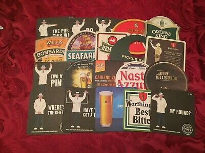 Collection Of 20 Different Beer Mats Tray 21 Lot No262 - Some Rare Beer Mats