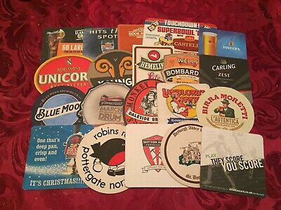 Collection Of 20 Different Beer Mats Tray 26 Lot No293 - Some Rare Beer Mats