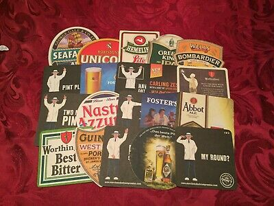 Collection Of 20 Different Beer Mats Tray 21 Lot No261 - Some Rare Beer Mats