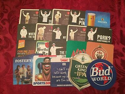 Collection Of 20 Different Beer Mats Tray 17 Lot No237 - Some Rare Beer Mats