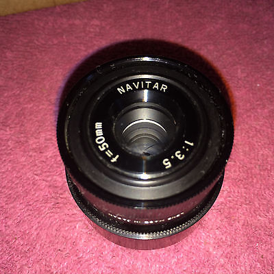 PERFECT NAVITAR 50 mm TELEVISION LENS F=50mm 1:3.5 TV lens