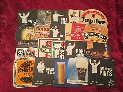Collection Of 20 Different Beer Mats Tray 21 Lot No259 - Some Rare Beer Mats