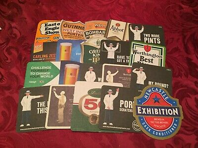 Collection Of 20 Different Beer Mats Tray 20 Lot No257 - Some Rare Beer Mats