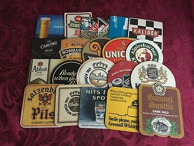 Collection Of 20 Different Beer Mats Tray 26 Lot No286 - Some Rare Beer Mats