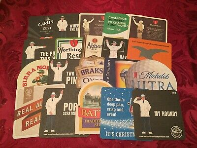 Collection Of 20 Different Beer Mats Tray 20 Lot No254 - Some Rare Beer Mats