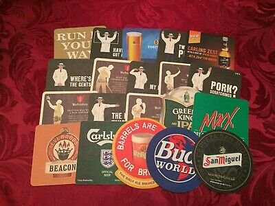 Collection Of 20 Different Beer Mats Tray 16 Lot No 224 - Some Rare Beer Mats