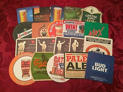 Collection Of 20 Different Beer Mats Tray 16 Lot No229 - Some Rare Beer Mats