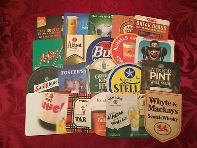 Collection Of 20 Different Beer Mats Tray 16 Lot No222 Some Rare Beer Mats