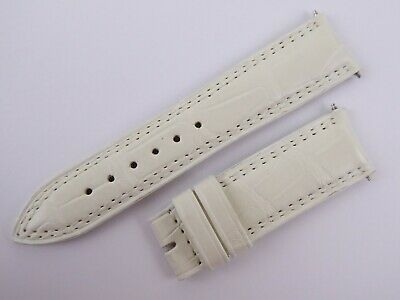 Genuine Jaeger LeCoultre White Leather Watch Strap 18mm w8