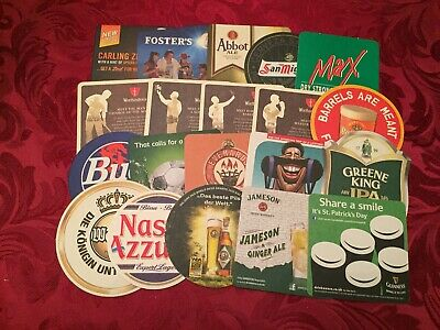 Collection Of 20 Different Beer Mats Tray 16 Lot No 223 - Some Rare Beer Mats