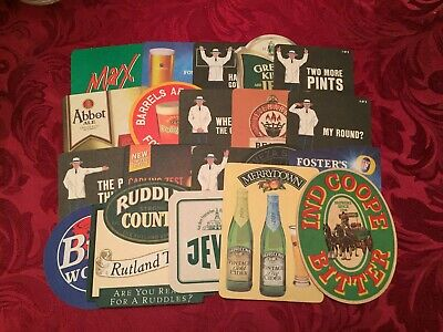 Collection Of 20 Different Beer Mats Tray 16 Lot No227 - Some Rare Beer Mats
