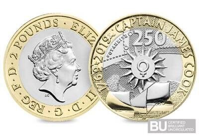 2019 Royal Mint Captain Cook £2 Two Pound Brilliant Uncirculated BU Coin
