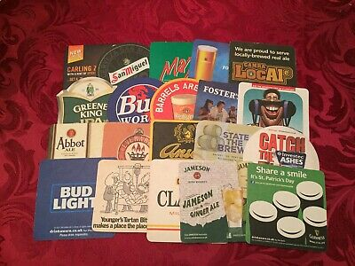 Collection Of 20 Different Beer Mats Tray 16 Lot No225  - Some Rare Beer Mats