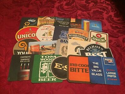 Collection Of 20 Different Beer Mats Tray 27 Lot No301 - Some Rare Beer Mats