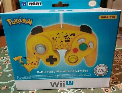 Hori Nintendo Yellow Pokemon Pikachu BattlePad Smash Bros Controller *NEW GCN