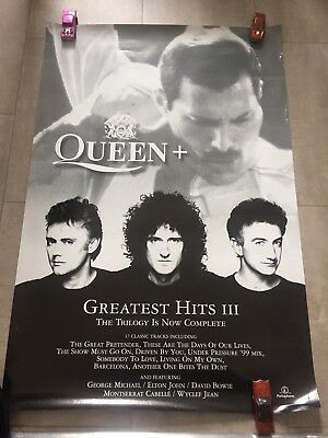 Queen 'Greatest Hits III' Official Shop Poster - Rare, 1999 - Freddie Mercury !