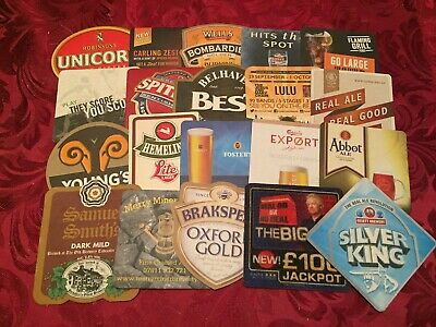 Collection Of 20 Different Beer Mats Tray 26 Lot No294 - Some Rare Beer Mats