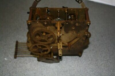 Vintage Dual Whittington/Westminster Chime Clock Movement spares/repairs/parts
