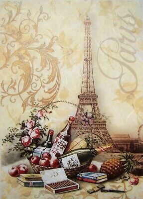 Rice Paper for Decoupage Scrapbook Crafting Old Paris Picture Tower 576