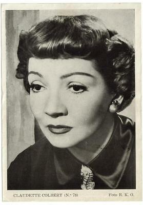 Actress CLAUDETTE COLBERT (revista Florita) 1950s original vintage photo