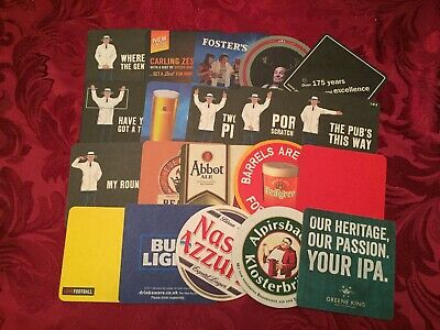 Collection Of 20 Different Beer Mats Tray12 Lot No175
