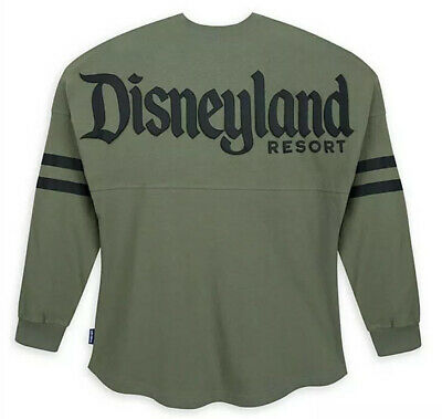 NWT DISNEY PARKS DISNEYLAND RESORT EST. 1955 SPIRIT JERSEY LONG SLEEVE SAGE Sz M