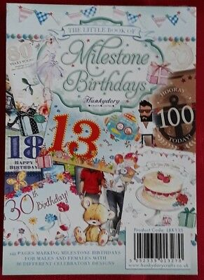 Hunkydory The Little Book of Milestone Birthdays - 144 Pages BN