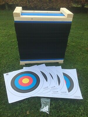60cm Egertec Layered Foam Archery Target. Free Faces, Pins And Delivery.