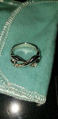 TIFFANY & CO. Sterling Silver 925 Paloma Picasso Double Loving Heart Ring