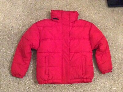 Next Gorgeous Girls Red Padded And Hooded Winter Puffa Coat Age 9