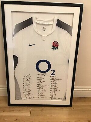 England Rugby World Cup Framed And Signed 2011 Shirt