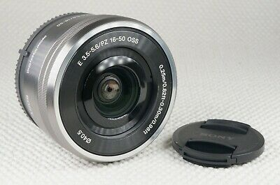 Sony SELP1650 16-50mm F/3.5-5.6 PZ OSS Lens Silver - With Caps - Sony E Mount
