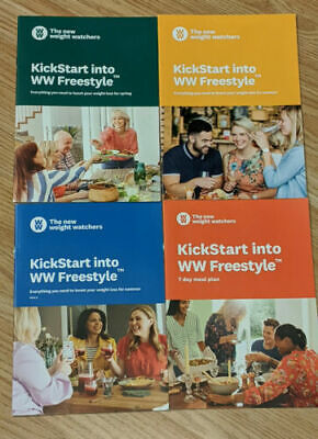 Kick Start into WW Freestyle Weight Watchers Booklets - 4 x 7 Day Meal Plans UK