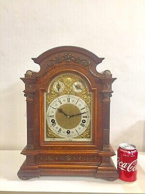 Stunning  Rare Antique Lenzkirch Burr Walnut Cased Bracket Clock 5 Gongs! C1900