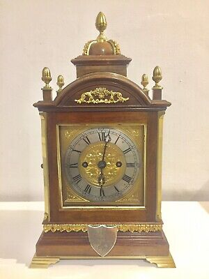 Stunning Rare Antique Small English Made Double Fusee  Bracket Clock C1890