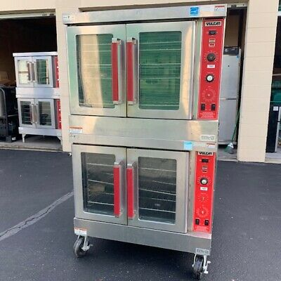 Used Vulcan SG4D Gas Double Stack Full Size Convection Oven
