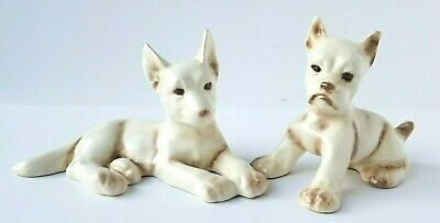 Vintage Erphila Boxer & German Shepherd Dog Pair - Made in Germany