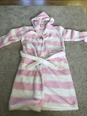 Pink And White Girls  Dressing Gown Ages 11-12 Years