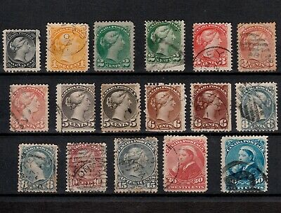 Canada 1868-1893 Selected Queen Victoria Stamps To Fifty Cents Fine Used