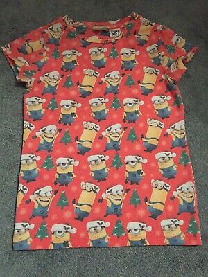 Girls Minion Christmas Tshirt Age 10 From Next Despicable Me