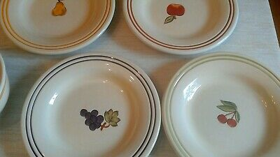 Tabletops Lifestyles Simple Fruit Salad Plates Set of 4