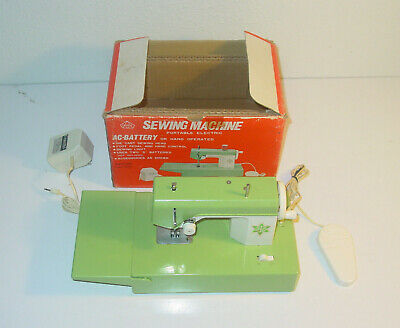 Vintage Sears Crystal Toy Sewing Machine / Mini Portable Electric