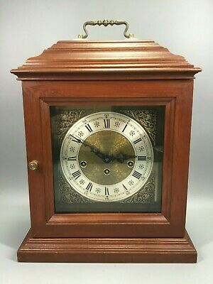 Westminster Chime Wooden Carriage Clock - 76 Franz Hermle 340-020 - West Germany